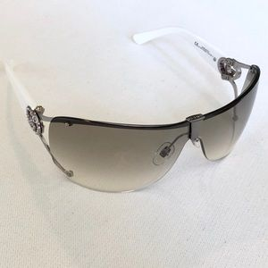 GUCCI Sunglasses Ruthenium White with Crystals